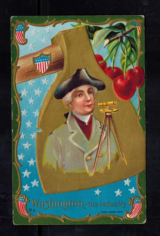 Mint USA Patriotic postcard President George Washington with Telescope 1910