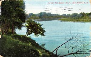 DES MOINES IOWA - RIVER VIEW - Early 1900s - PrIMITIVE