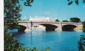 30th Street Bridge White River Showing U S Naval Armory Indianapolis Indiana