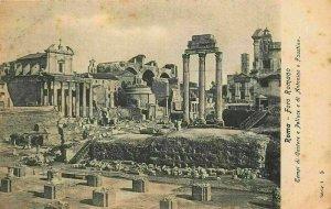 Italy Roma Foro Romano Forum Ruins Postcard