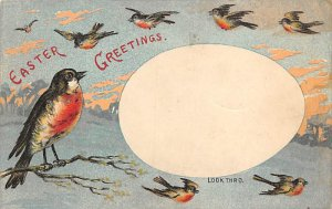 Transparencies Hold to Light Post Card Easter Greetings Writing on back