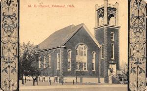 EDMOND, OK Oklahoma     METHODIST EPISCOPAL ME CHURCH    1914 Framed Postcard