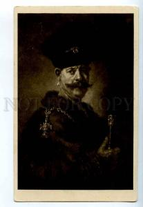 249403 Rembrandt portrait of Pole Vintage russian Granberg PC