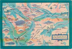 Snowdonia map postcard
