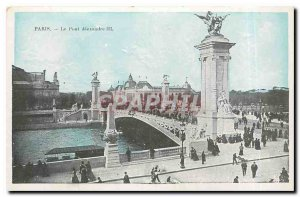 Old Postcard Paris Pont Alexandre III
