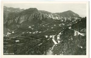 Italy, Capri, unused real photo Postcard