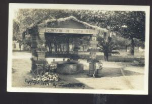 RPPC ST. AUGUSTINE FLORIDA THE FOUNTAIN OF YOUTH 1909 REAL PHOTO POSTCARD