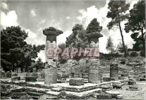 Postcard Modern Olympia Temple of Juno two columns of Heraion