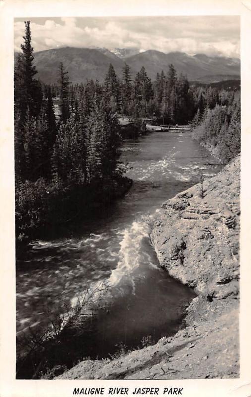 Canada Maligne River Jasper Park 1952