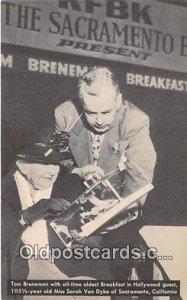 Tom Breneman Movie Actor / Actress Breakfast in Hollywood Unused