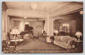 Rochester Minnesota~Hotel Kahler~Georgian Room~Grand Piano~Vintage Decor~1935