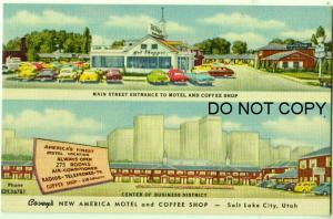 Covey's New America Motel & Coffee Shop, Salt Lake City Utah