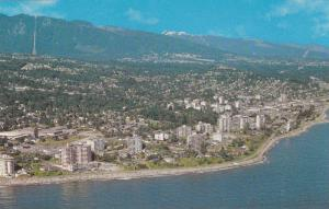 Aerial shoreline view of West Vancouver,  Vancouver,  B.C.,  Canada,  40-60s