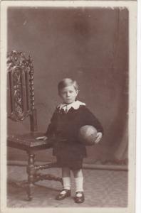 RP: Boy holding a ball , 00-10s