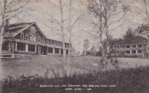 Recreation hall and Dormitory, New England music camp, Sidney, Maine, PU-00-10s