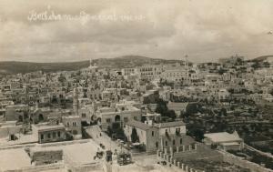 BETHLEHEM PALESTINE GENERAL VIEW ISRAEL ANTIQUE REAL PHOTO POSTCARD RPPC