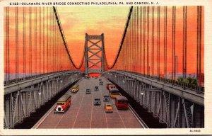 New Jersey Camden Delaware River Bridge Curteich
