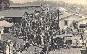 Rutland Vermont State Fair Busy View Horse & Wagons RPPC Postcard