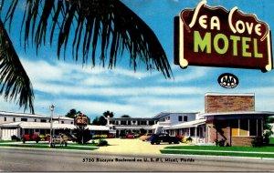 Florida Miami Sea Cove Motel 1955