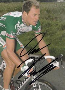 Thor Hushovd Norwegian Cycling Cyclist Champion Hand Signed Card Photo