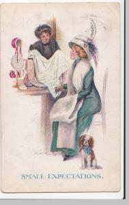 Fashion; Small Expectations, Artist Signed PPC By Sherie, 1913 PMK