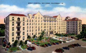 San Diego, California - A view of Mercy Hospital - in the 1940s