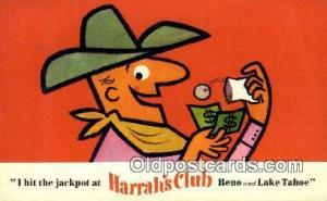 Harrah's Club, Lake Tahoe, USA Motel Hotel Postcard Post Card Old Vintage Ant...