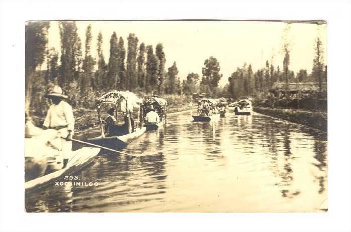 RP, Small Boats, Xochimilco, Mexico City, Mexico, 1930-1950s