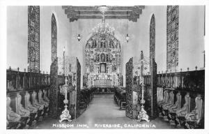 Riverside California~Mission Inn Interior~Fancy Chairs-Candles-Windows~'40s RPPC