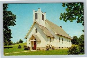 Johnson Chapel Methodist Church, Vintage Confluence Pennsylvania Postcard
