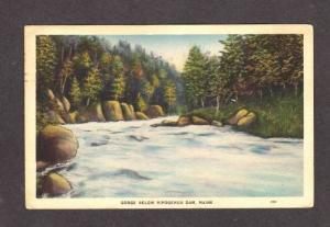 ME Ripogenus Dam GREENVILLE MAINE POSTCARD 1937 PC