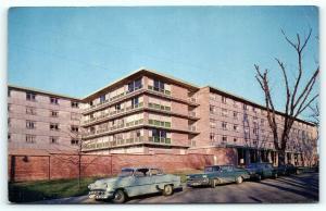 Postcard IA Iowa City State University of Iowa Burge Hall Women's Residence A21