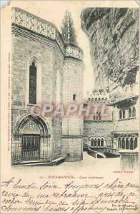 Old Postcard Rocamadour Inner Court