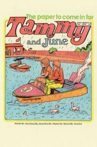 Speedboat In Disaster Rain Fair Ride Tammy 1970s Comic Postcard