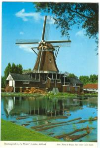 Netherlands, LEIDEN, Saw-Mill, De Herder, used Postcard