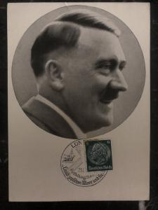 1938 Lüneburg Germany RPPC real picture Postcard cover Hitler Portrait