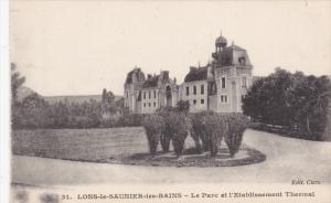 LONS-le-SAUNIER-les-BAINS, Jura, France; Le Parc et l' Etablissement Thermal,...