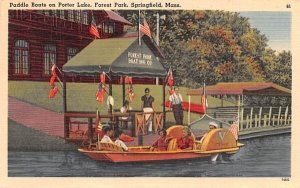 Paddle Boats on Porter Lake in Springfield, Massachusetts Forest Park.