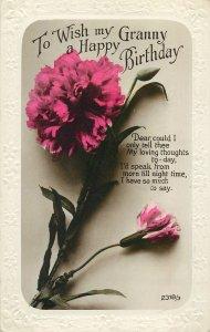 Postcard Greetings birthday flowers