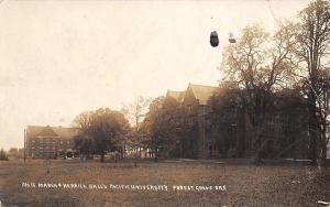 Forest Grove OR~Pacific University: Marsha & Herrick Halls~Postcard RPPC