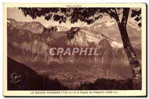 Old Postcard Le Bourg D & # 39Oisans And The Signal Prégentil