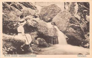 Petite Suisse Luxembourgeoise Creek Woman with Hat, Hallerbach Creek