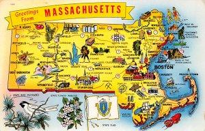 Maps Massachusetts USA 1961