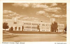 E35/ Kalispell Montana Mt Photo RPPC Postcard c40s Flathead County High School