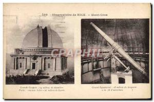 Old Postcard Observatory Nice Mont Gros Great Grand Equatorial dome