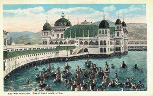 USA Saltair Pavilion Great Salt Lake Utah Vintage Postcard 07.18