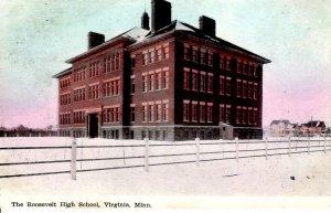 Virginia, Minnesota - The Roosevelt High School - c1908