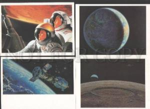 110568 SPACE Star Way of Humanity Collection 16 old postcard
