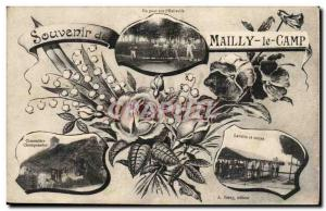 Old Postcard Militaria Mailly the Camp Remembrance