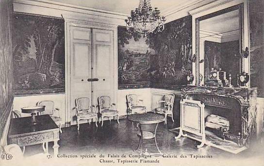 France Palais de Compiegne Galerie des Tapisseries Chasse Tapisserie des Flam...